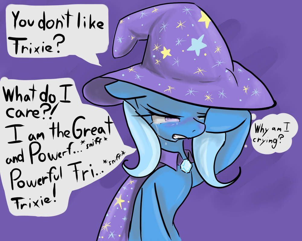 Trixie Crying Tsundere Trixie Thought Bubbles