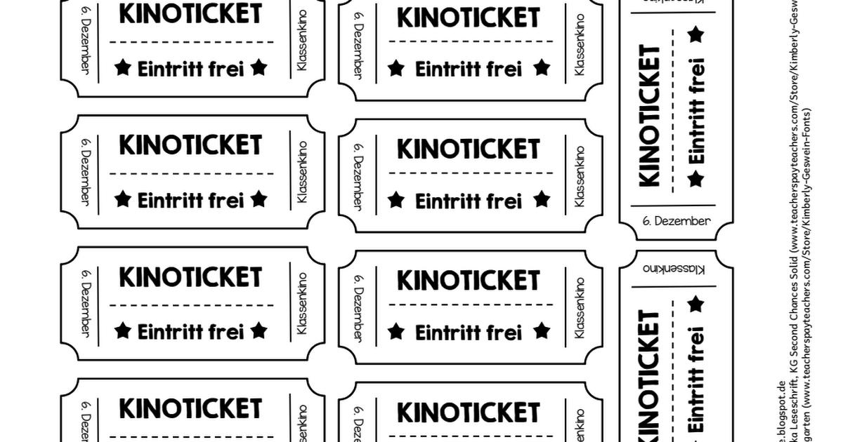 Kino Ticket Vorlage Isoliert Auf Weissem