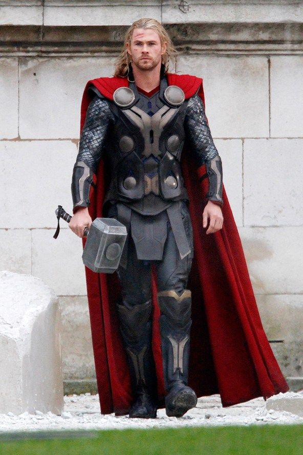 """The god of thunder and lighting. Those are also what he calls his muscles. """"Do you want the hammer, thunder, or lighting? Pow! Pow!"""""""