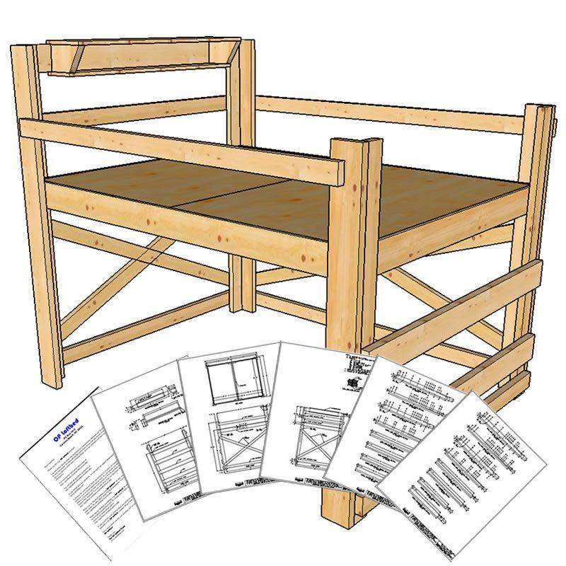 Queen Size Loft Bed Plans Medium Height Loft bed plans