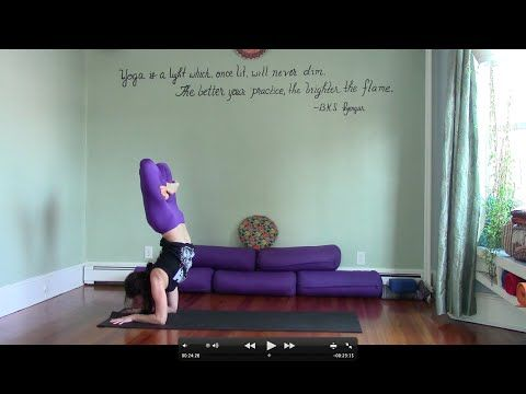 45 minute challenging yoga practice with leigha  advanced
