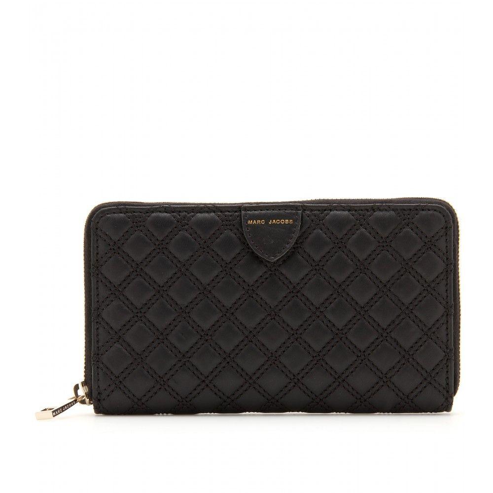 HUDSON QUILTED LEATHER WALLET seen @ www.mytheresa.com