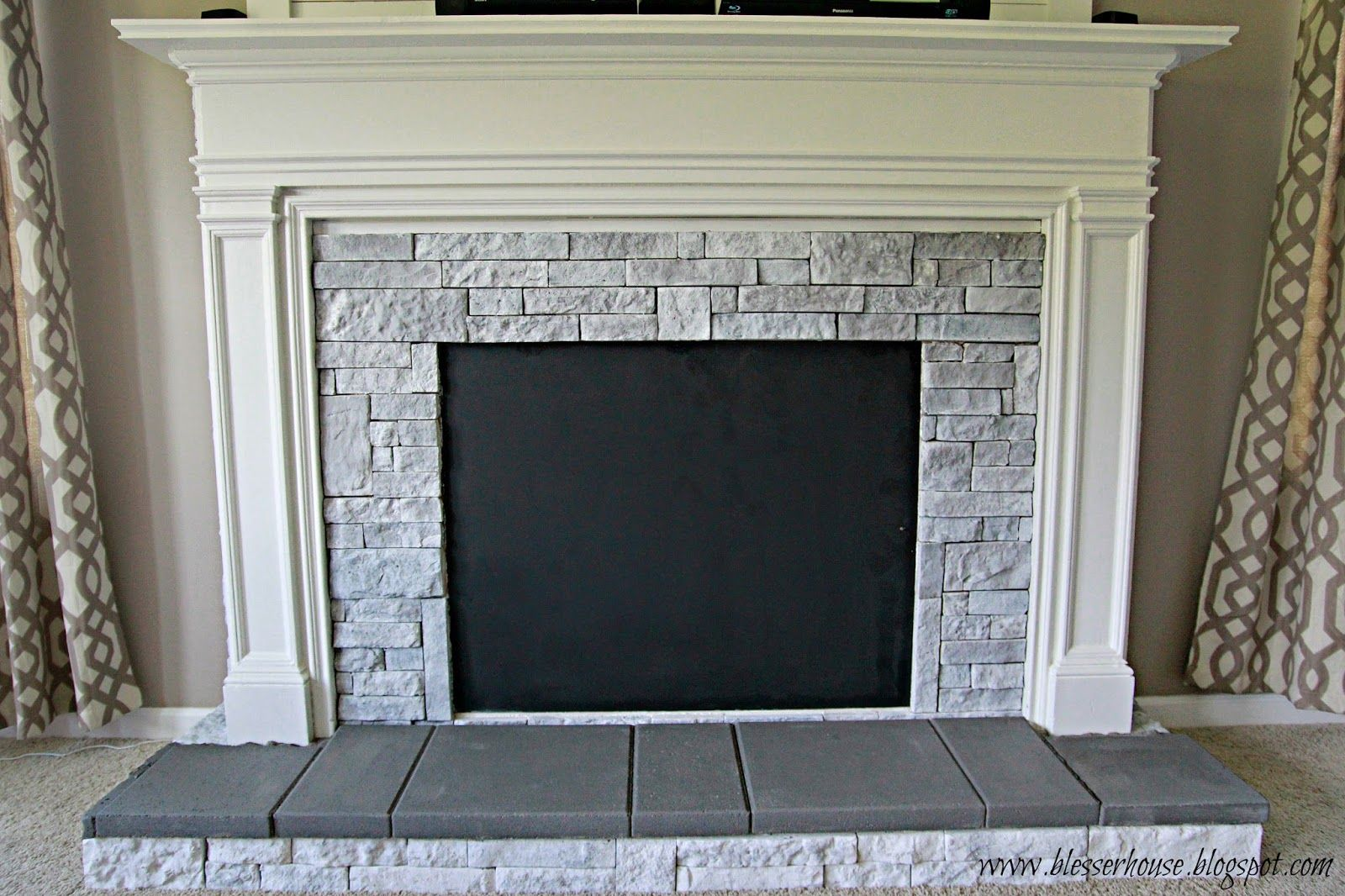 Diy faux fireplace entertainment center part faux fireplace