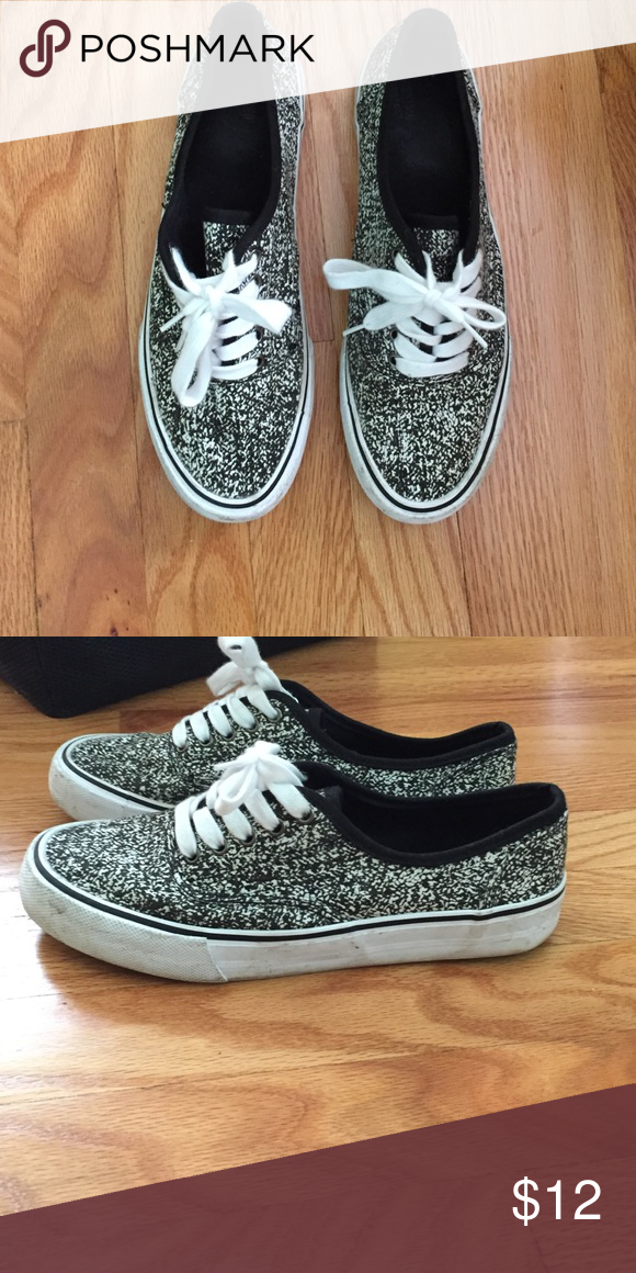 0a01aef5aac6 Target casual sneakers Black and white speckle van style sneakers. Barely  worn!! Size 9! Mossimo Supply Co Shoes Sneakers
