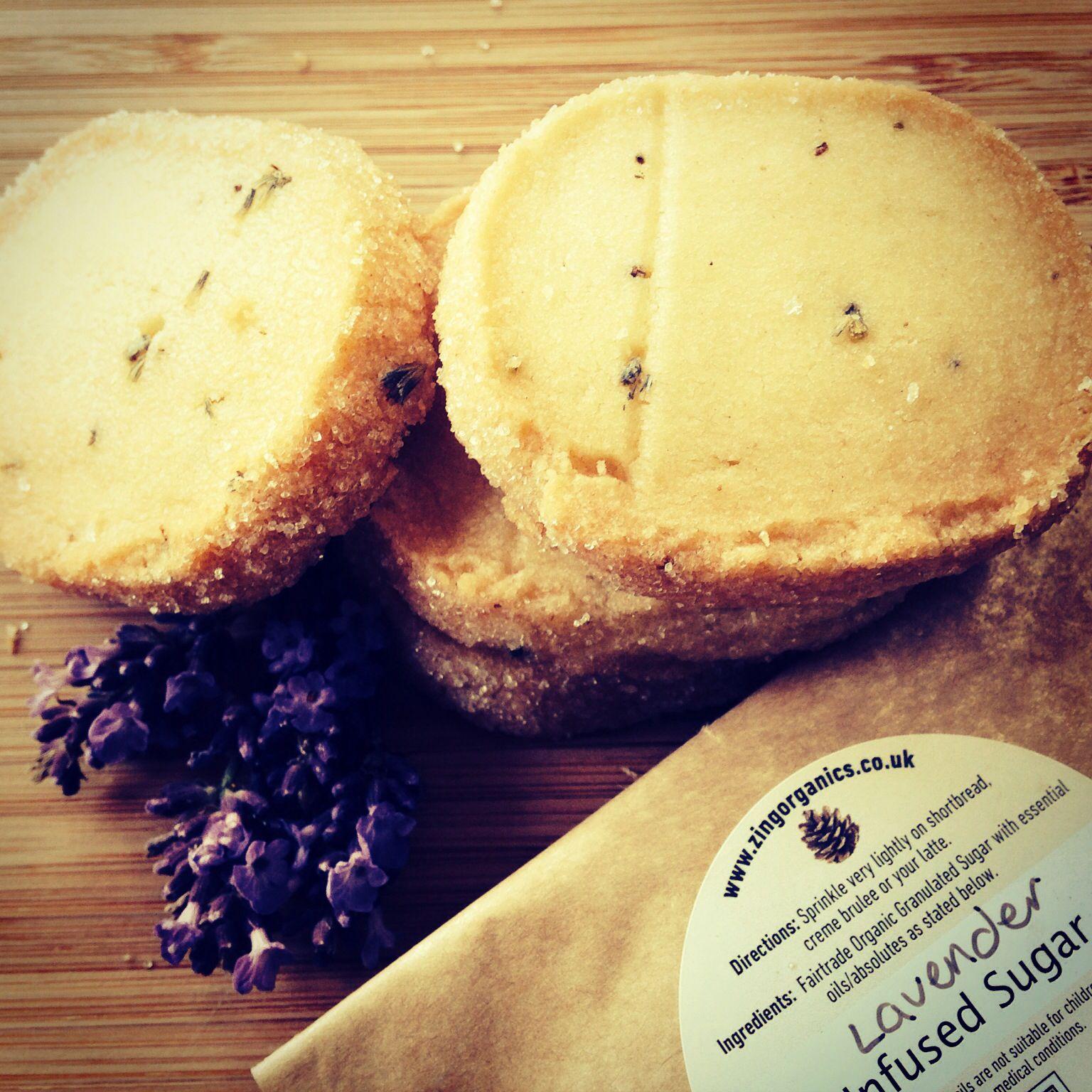 Lavender biscuits, rolled in Zing Organics lavender sugar.