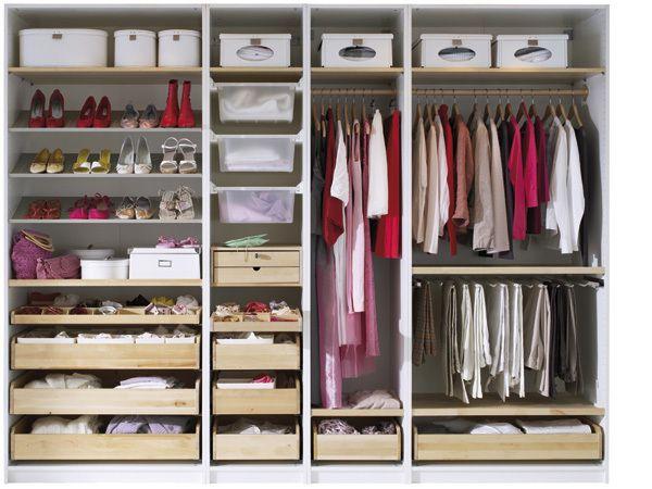 excelente distribucin para closet empotrados armario