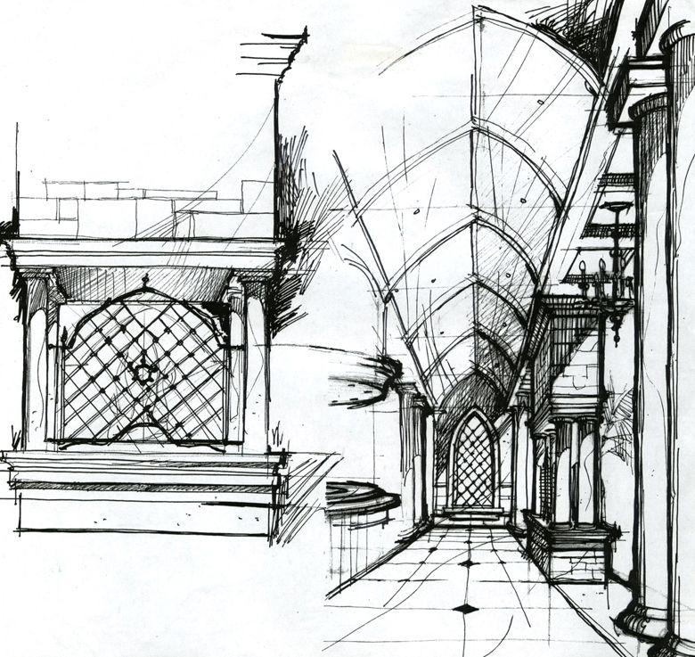 Interior Design Sketch: Interior Design Sketch By DM