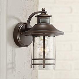 Galt 11 1 4 High Bronze Motion Sensor Outdoor Wall Light 33h87 Lamps Plus Outdoor Wall Lighting Outdoor Wall Light Fixtures Wall Lights