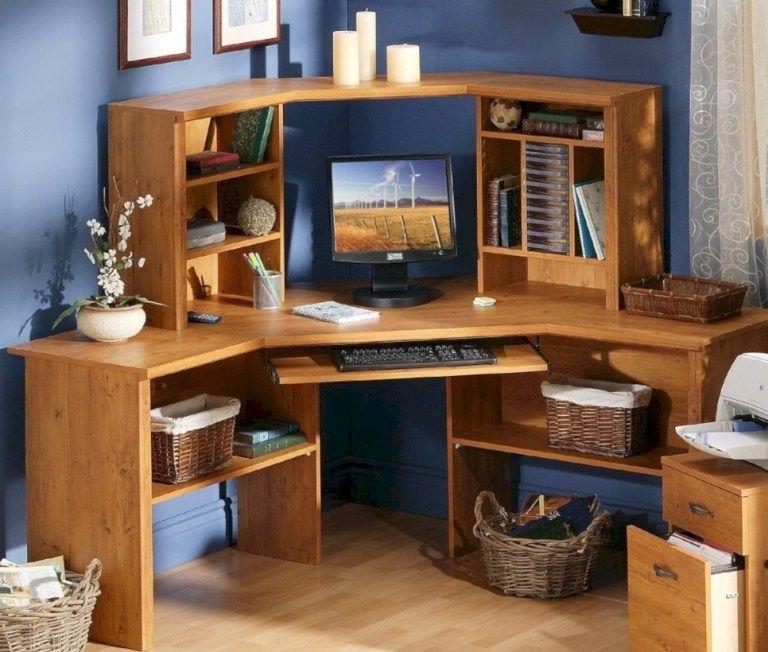 Tips For Redecorating Your Home Office: Elegant Computer Desks Design Ideas 01