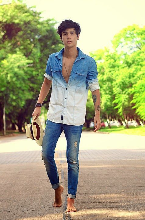 e9221f01cf 15 Classy   Simple Denim Shirt Outfit for Men in their 20s - TheStyleCity - Men s  Fashion   Women s Fashion