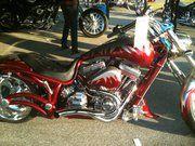 Custom Bike on display during Bike Week in Laconia, NH.. Cost $81,900.