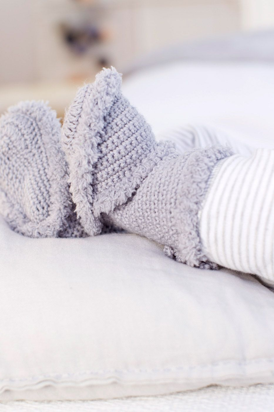 Warme Gehäkelte Baby Booties Pinterest