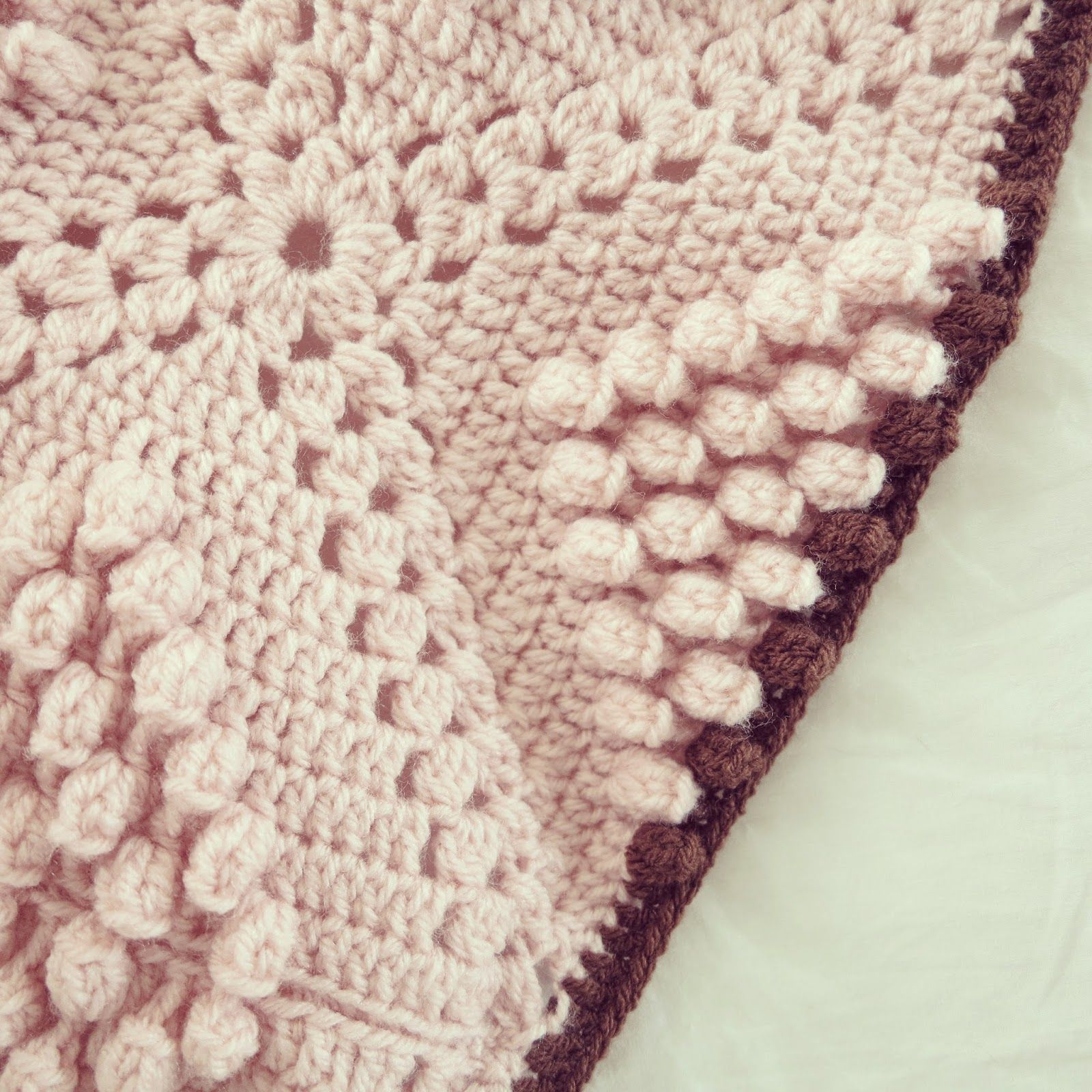 ByHaafner, crochet, popcorn, bobble stitch throw, blanket, powder ...