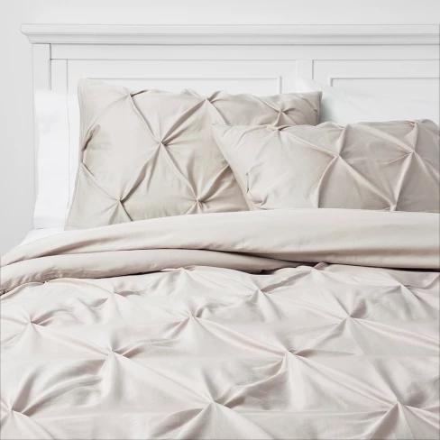 Pinched Pleat Comforter Set Threshold Duvet Cover Sets Duvet Covers Comforter Sets