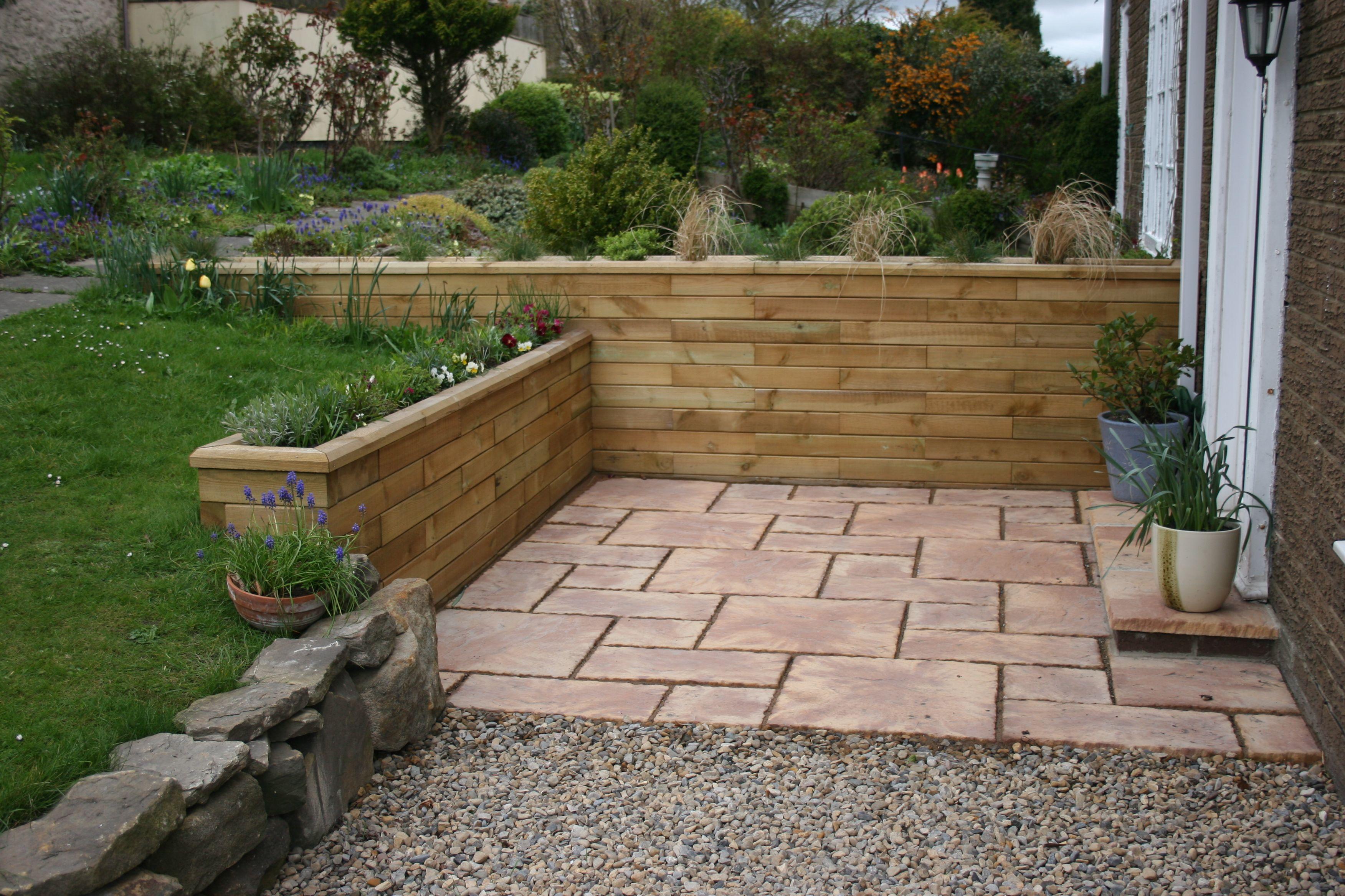Retaining Walls Garden renovation ideas, Sloped garden