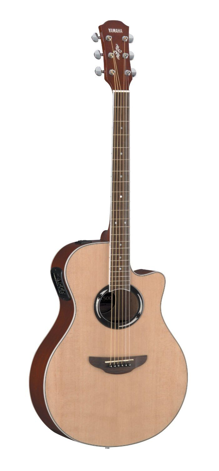 Amazon Com Yamaha Apx500 Acoustic Electric Guitar Natural Musical Instruments Acoustic Electric Guitar Yamaha Guitar Guitar