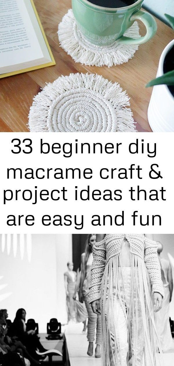 33 Beginner DIY Macrame Craft  Project Ideas That are Easy and Fun Denisse M Vera Macramé Jacket and Nazca print Pant  On the Keune Haircosmetics Runway