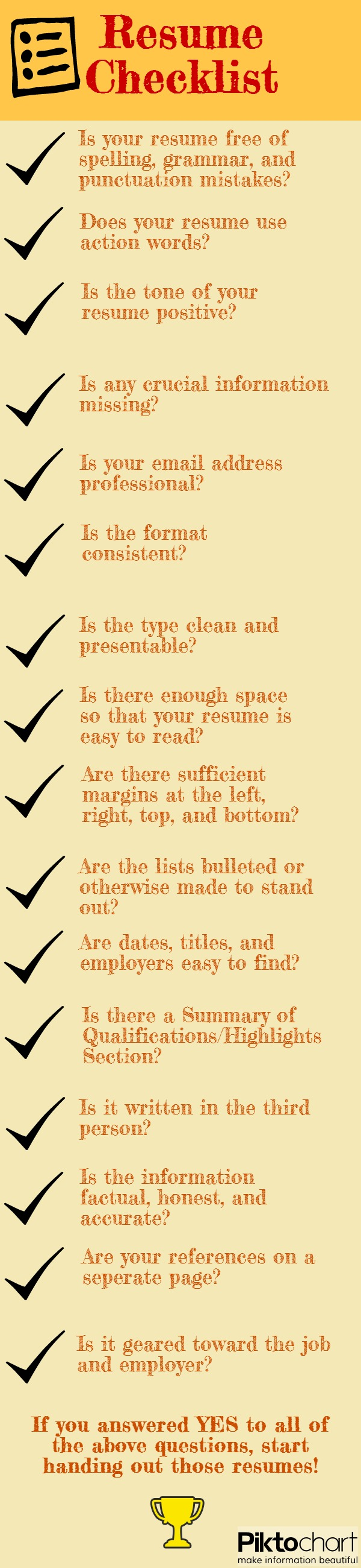 make sure you read this list before handing out your resumes