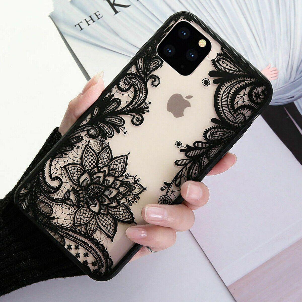 F iphone 11 pro max 8 plus 7 xs max xr mandala lace flower