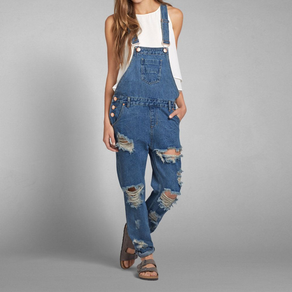 5a491d4f8d14 Womens One Teaspoon Distressed Wolf Blue Awesome Overall