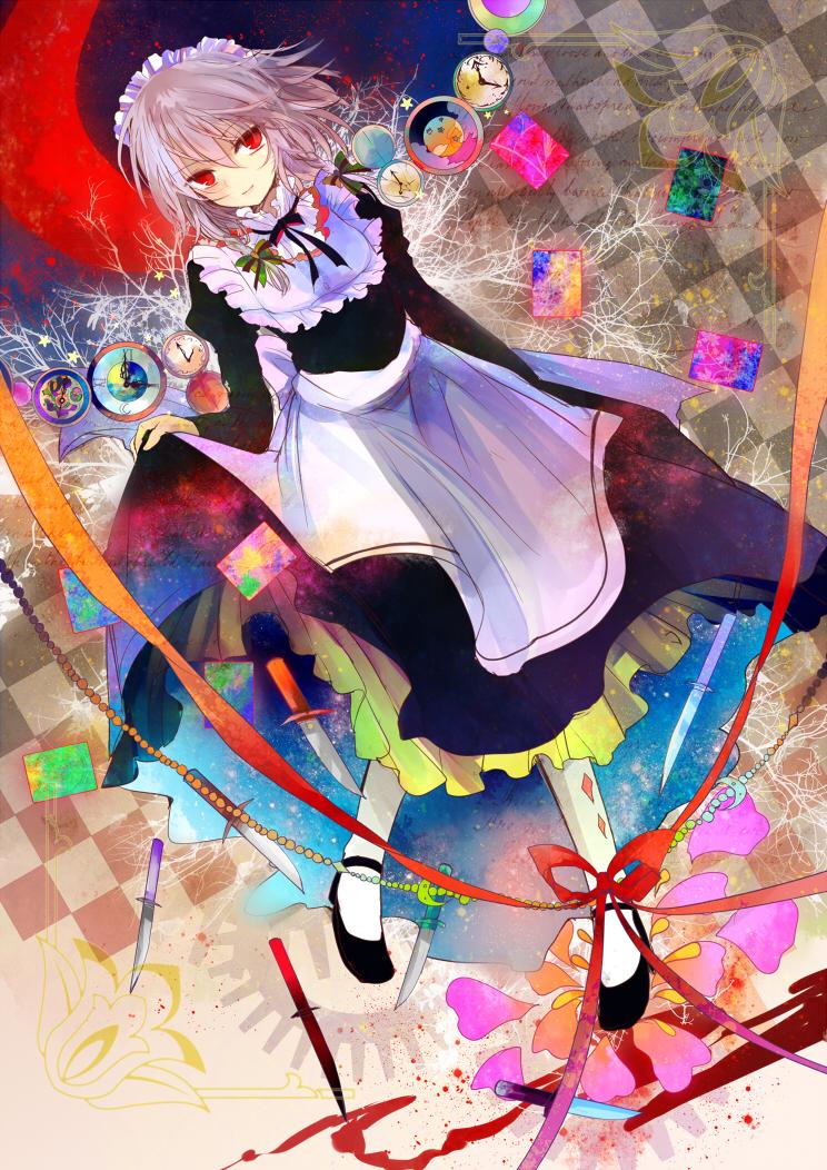 東方 咲 夜 さ ん minh họa bởi ズ pixiv 芸術的アニメ少女 東方 かわいい カワイイアニメ