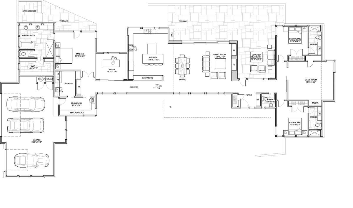 House Plan 5829 00023 Contemporary Plan 3 586 Square Feet 3 Bedrooms 3 5 Bathrooms House Plans How To Plan Home Design Plans