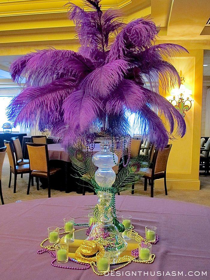 Decorating With Mardi Gras Centerpieces Mardi Gras Party Mardi