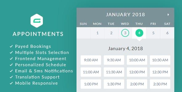 Schedule appointments within Gravity Forms. gAppointments