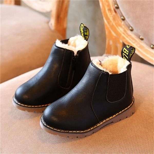 Awesome kids boots! Unisex PU boots Options  with or without fleece lining  Colors available  Black 378f54cd6cdb