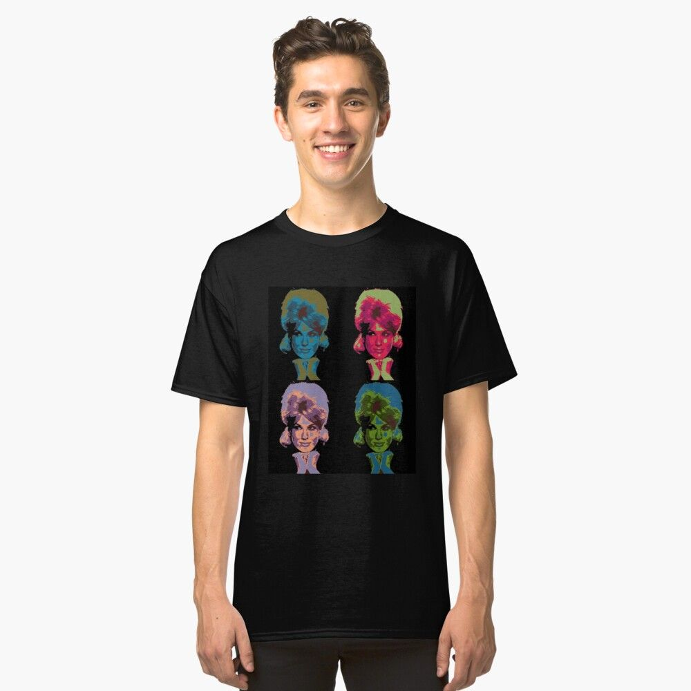 Dusty Springfield Pop Art Classic T Shirt By Halibutgoatramb Classic T Shirts T Shirt Shirts