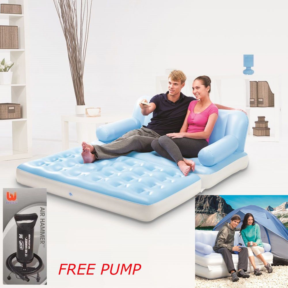 Swell Bestway Leisair Inflatable Sofa Air Bed Couch 5 In 1 Double Ibusinesslaw Wood Chair Design Ideas Ibusinesslaworg