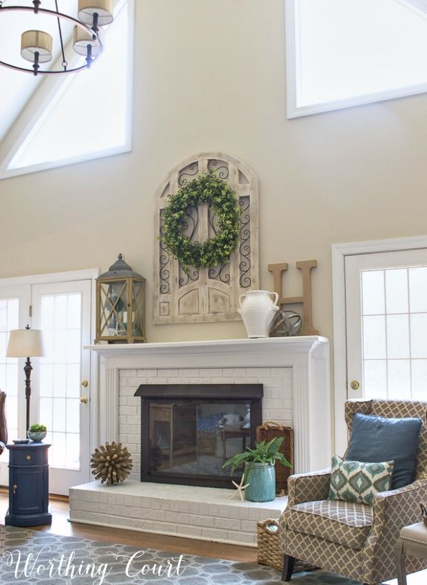 My Favorite Common Elements Of A Spring Mantel And Hearth Worthing Court Fireplace Mantle Decor Fireplace Mantel Decor Fireplace Makeover