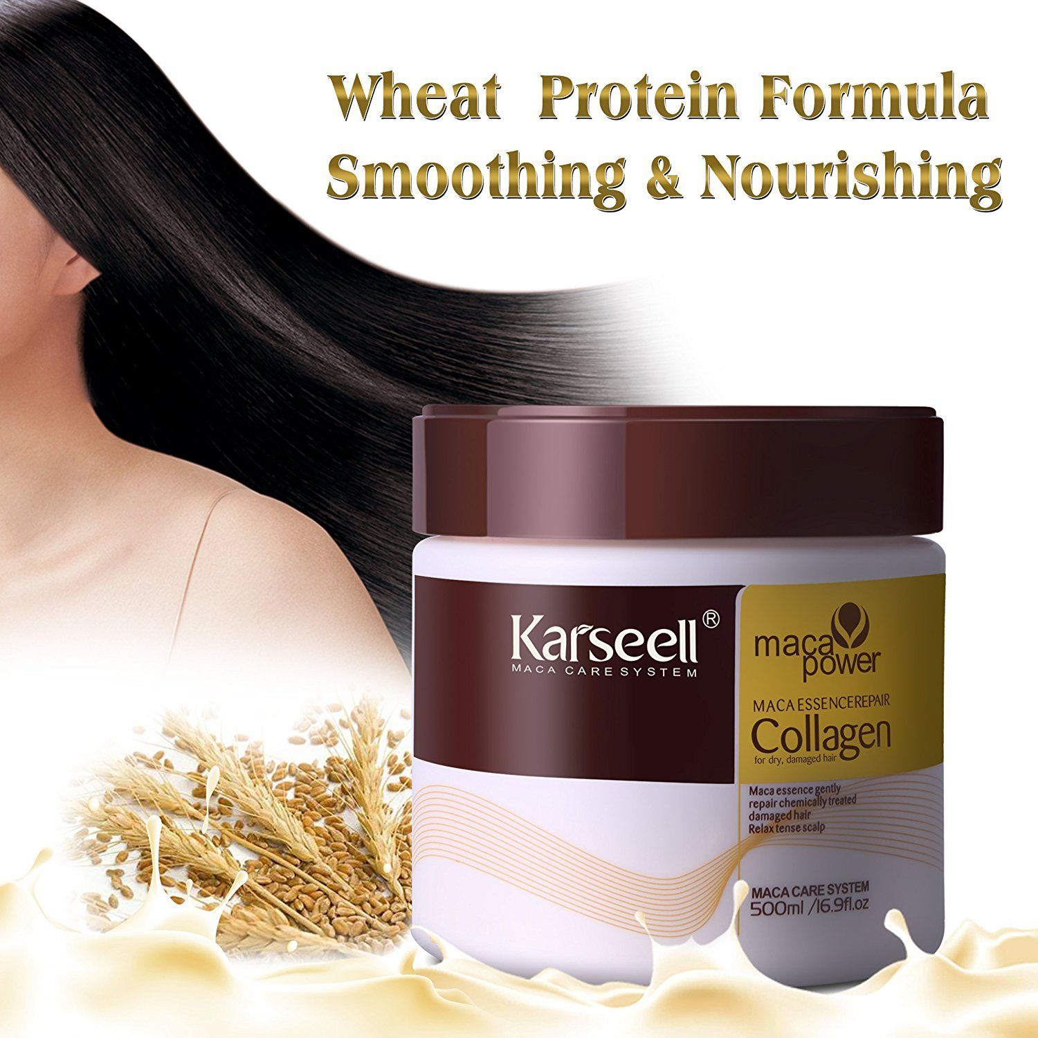 Hair Mask Karseell Collagen 169 Oz Deep Conditioner Coconut Oil For