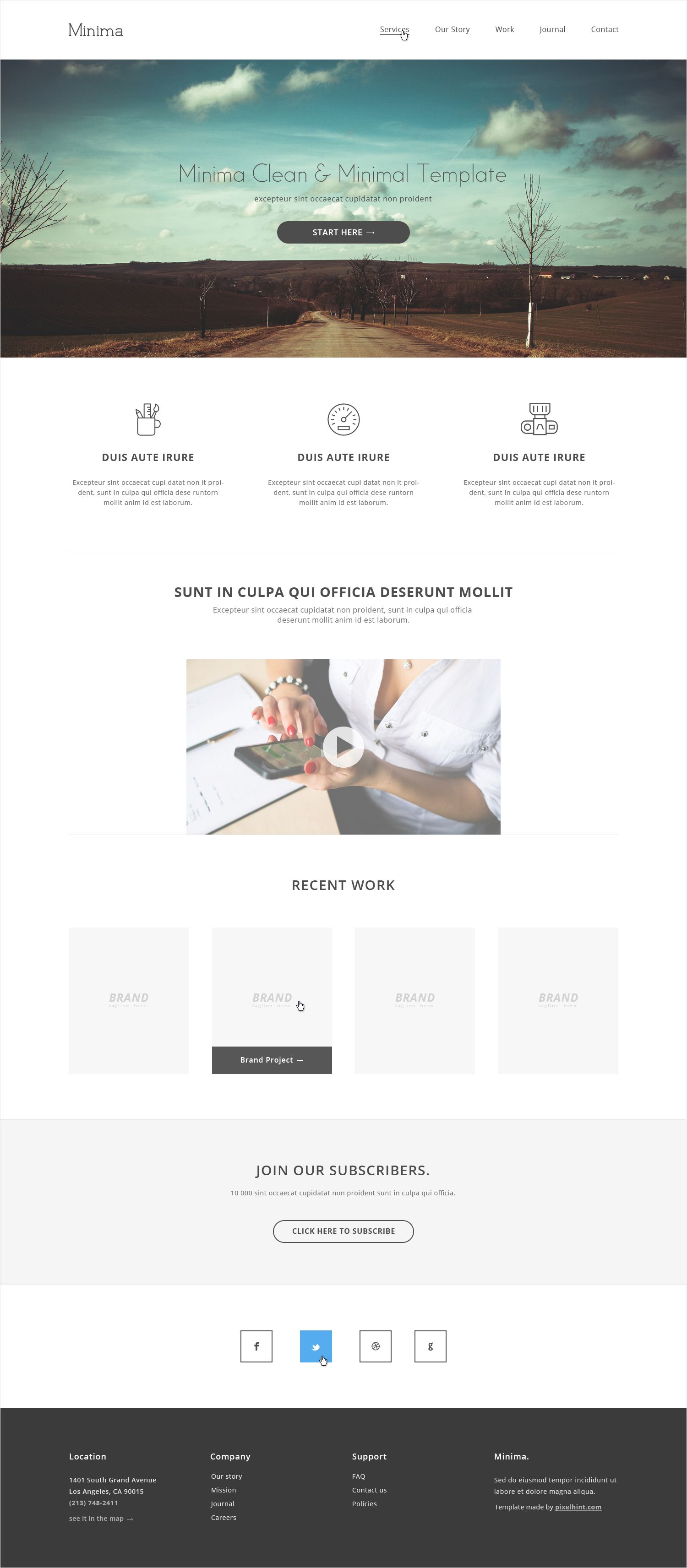 Minimal HTML5 website template | Themes and Templates | Pinterest ...