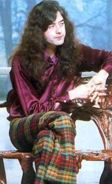 Jimmy Page in another shot wearing those cool threads :)