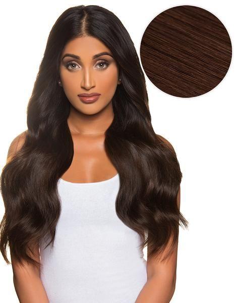 Bellissima 220g 22 Dark Brown 2 Hair Extensions Tape In Hair