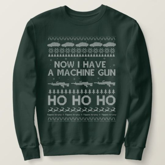 die hard ugly christmas sweater jumper