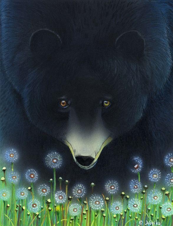 "Saatchi Art Artist: Noriko Senshu; Acrylic 1990 Painting ""Hello BEAR"""