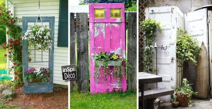 D corer le jardin en recyclant des vieilles portes 20 - Decorer un jardin ...