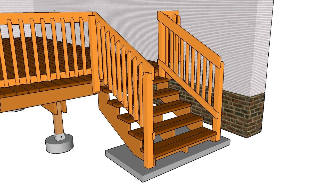 Deck Stair Railing Build Outdoor Deck Stair Railing Ontario Building Tempat