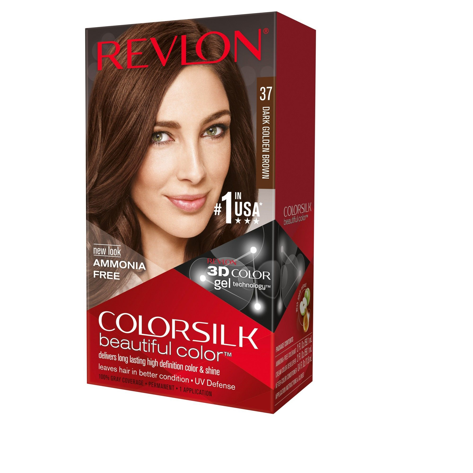 Revlon Colorsilk Beautiful Permanent Hair Color 37 Dark Golden