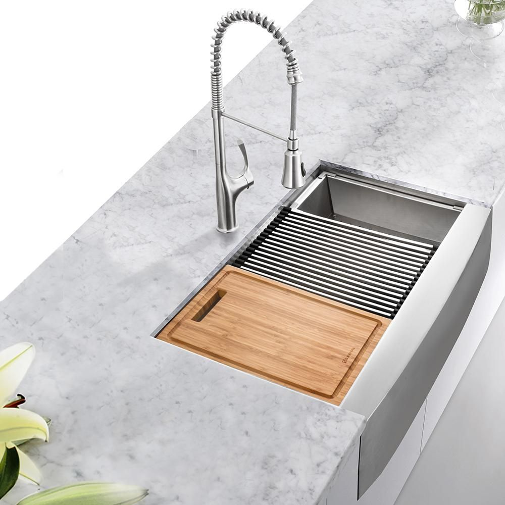 Glacier Bay AllinOne ApronFront Farmhouse Stainless
