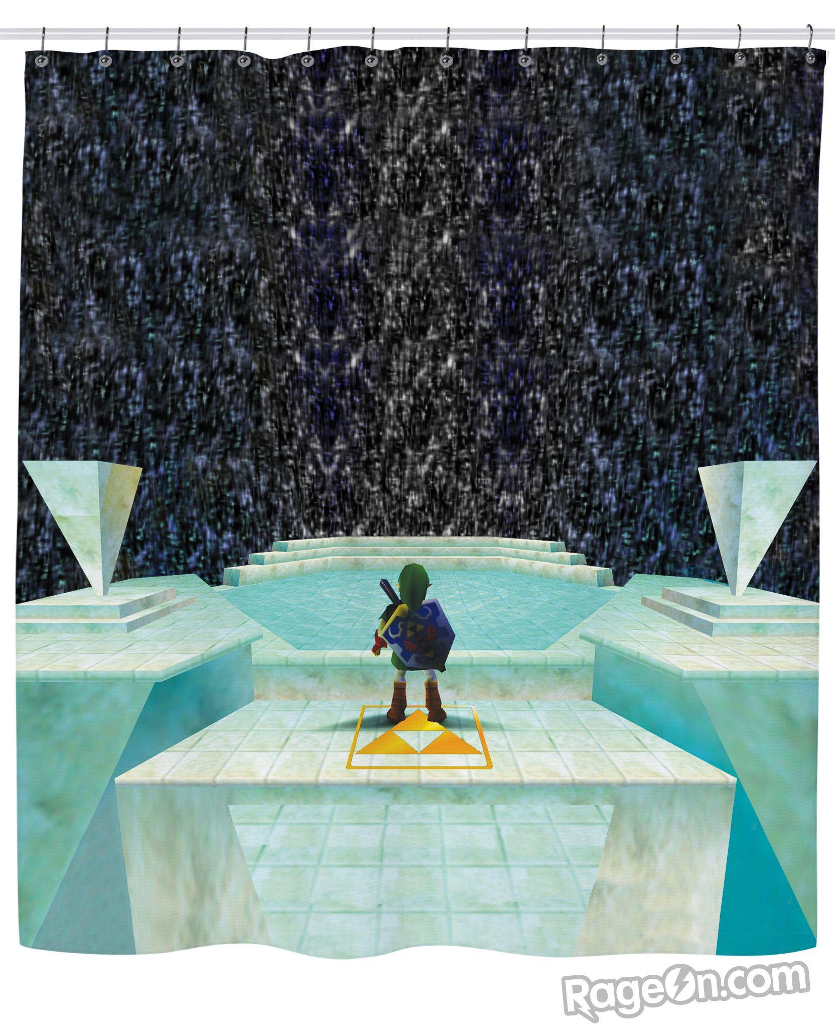 Zelda Great Fairy Fountain Shower Curtain Rageon The World S
