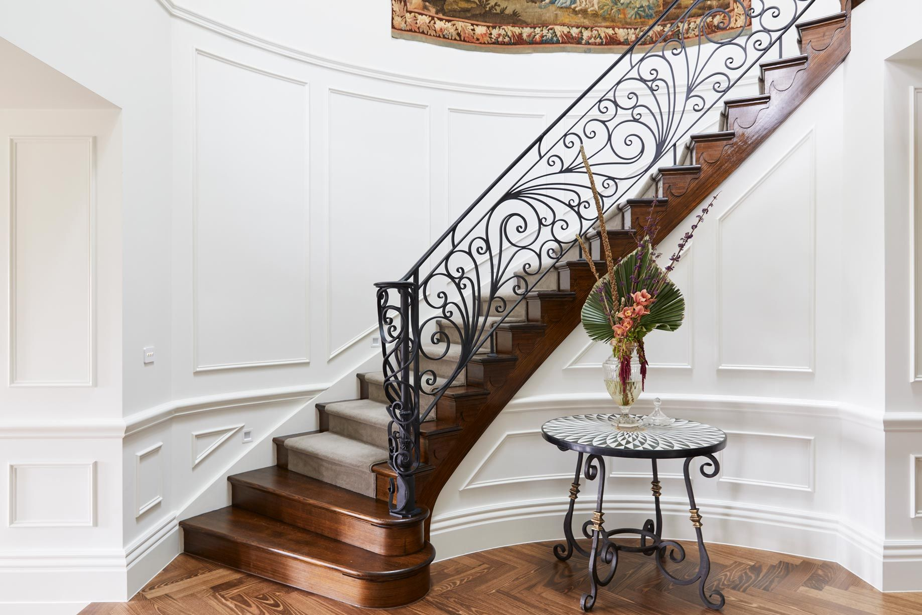 Madden Grove S&A Stairs Wrought iron handrail, Iron