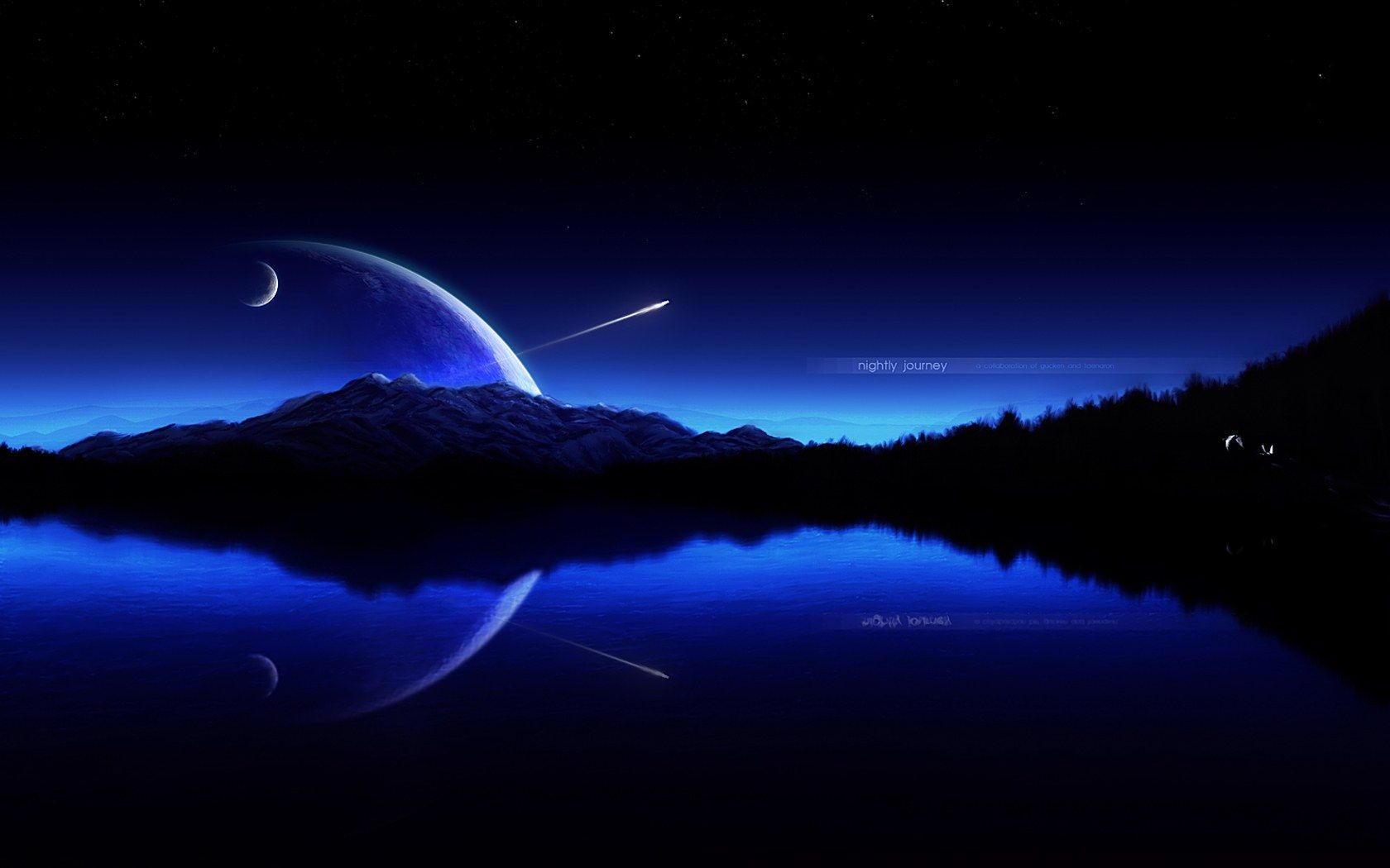 Hd wallpaper universe - Universe And Planets Digital Art Wallpaper Collab Nightly Journey