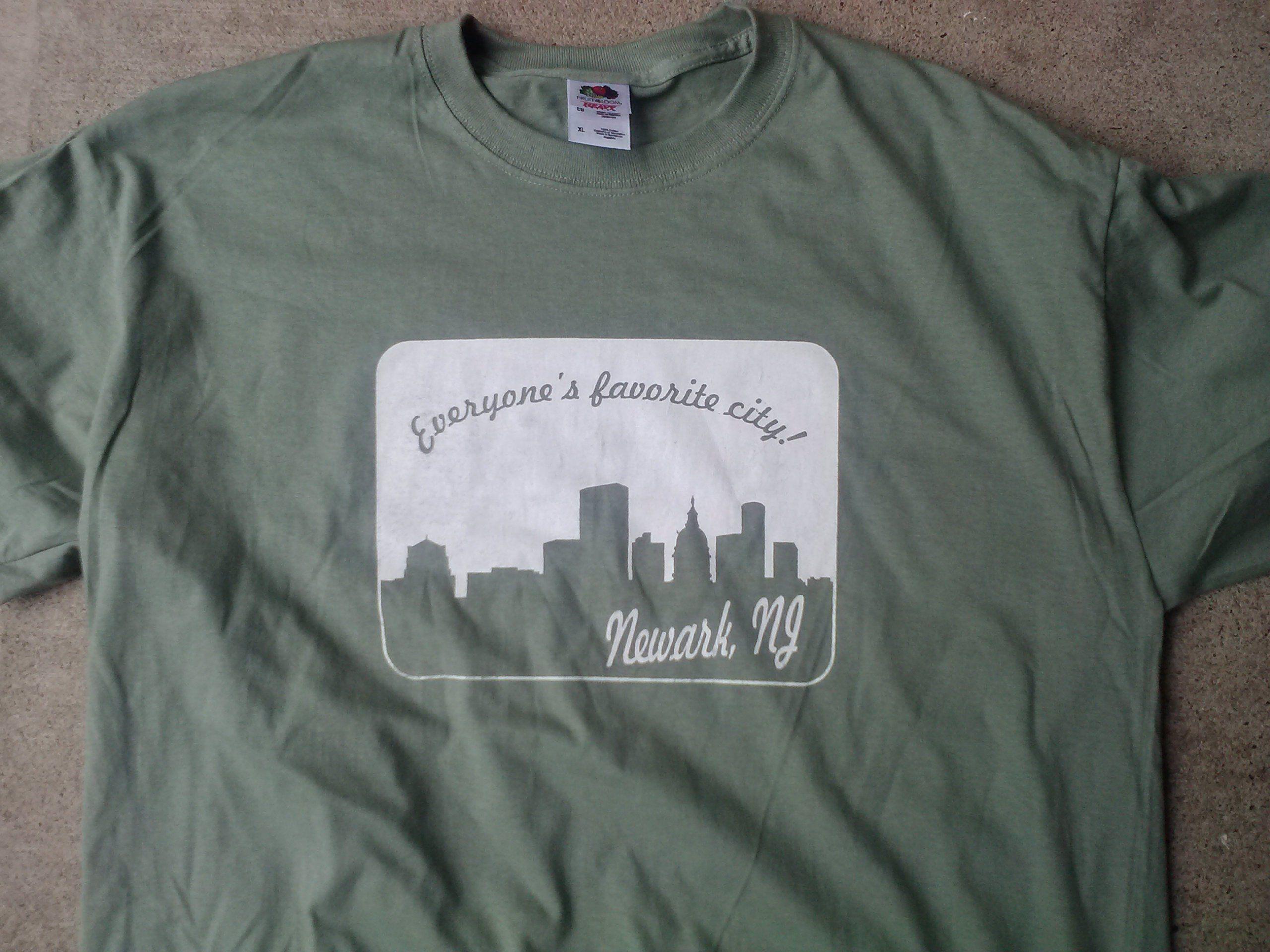 Newark NJ everyone's favorite city vintage style tee shirt