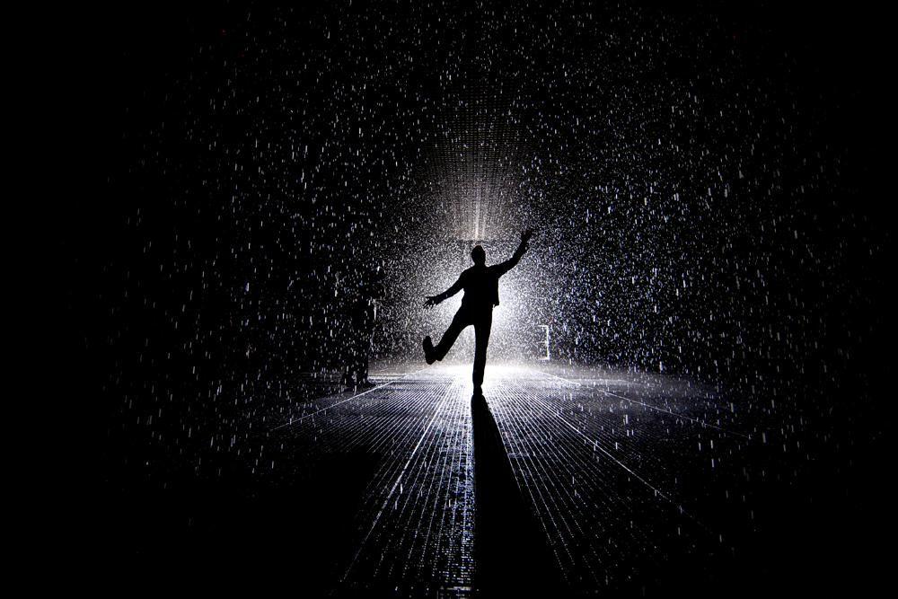 Rain Room by Random International. Photo by Katie Sokoler