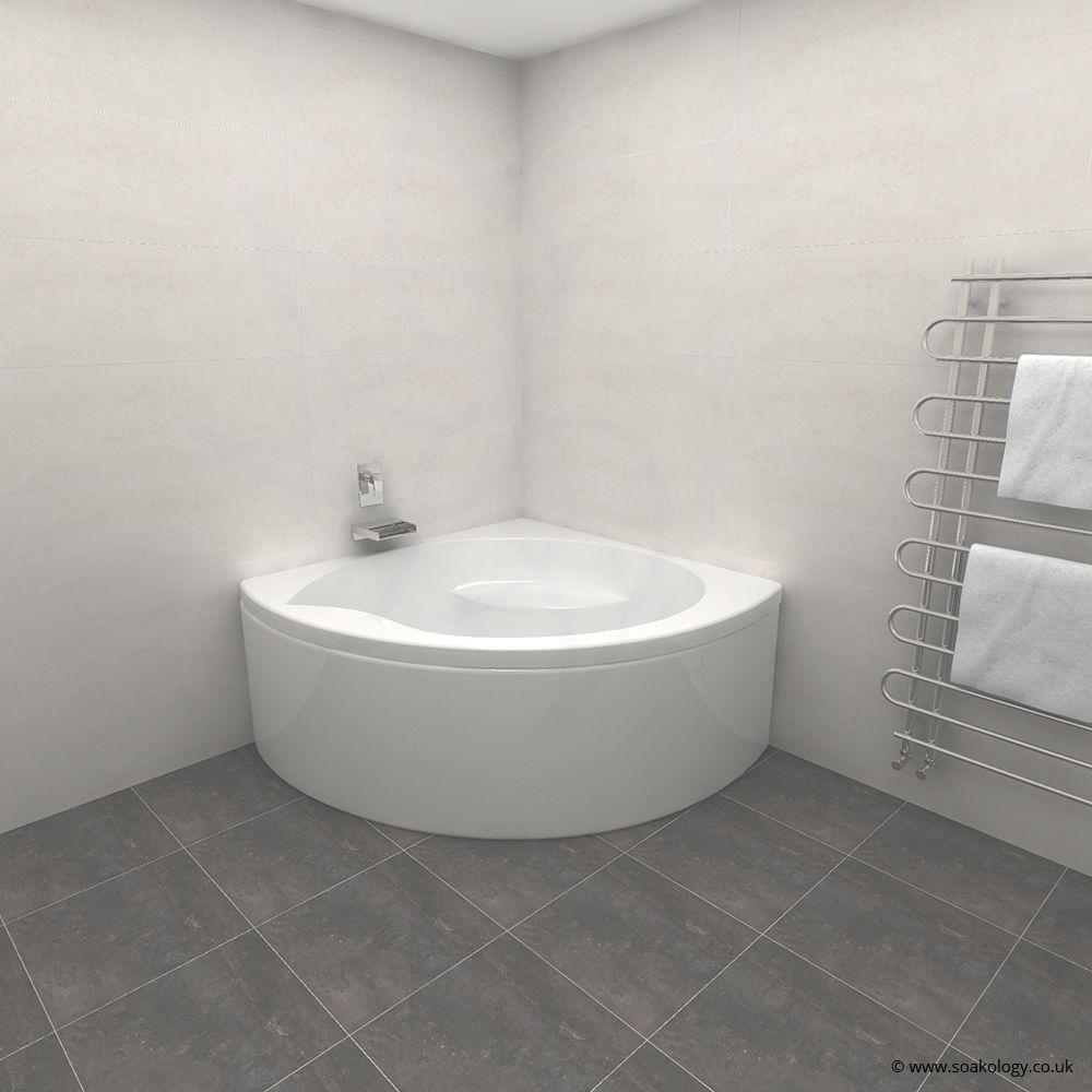 Carron Tranquillity Corner Bath 1300 x 1300 x 450mm, Carronite ...