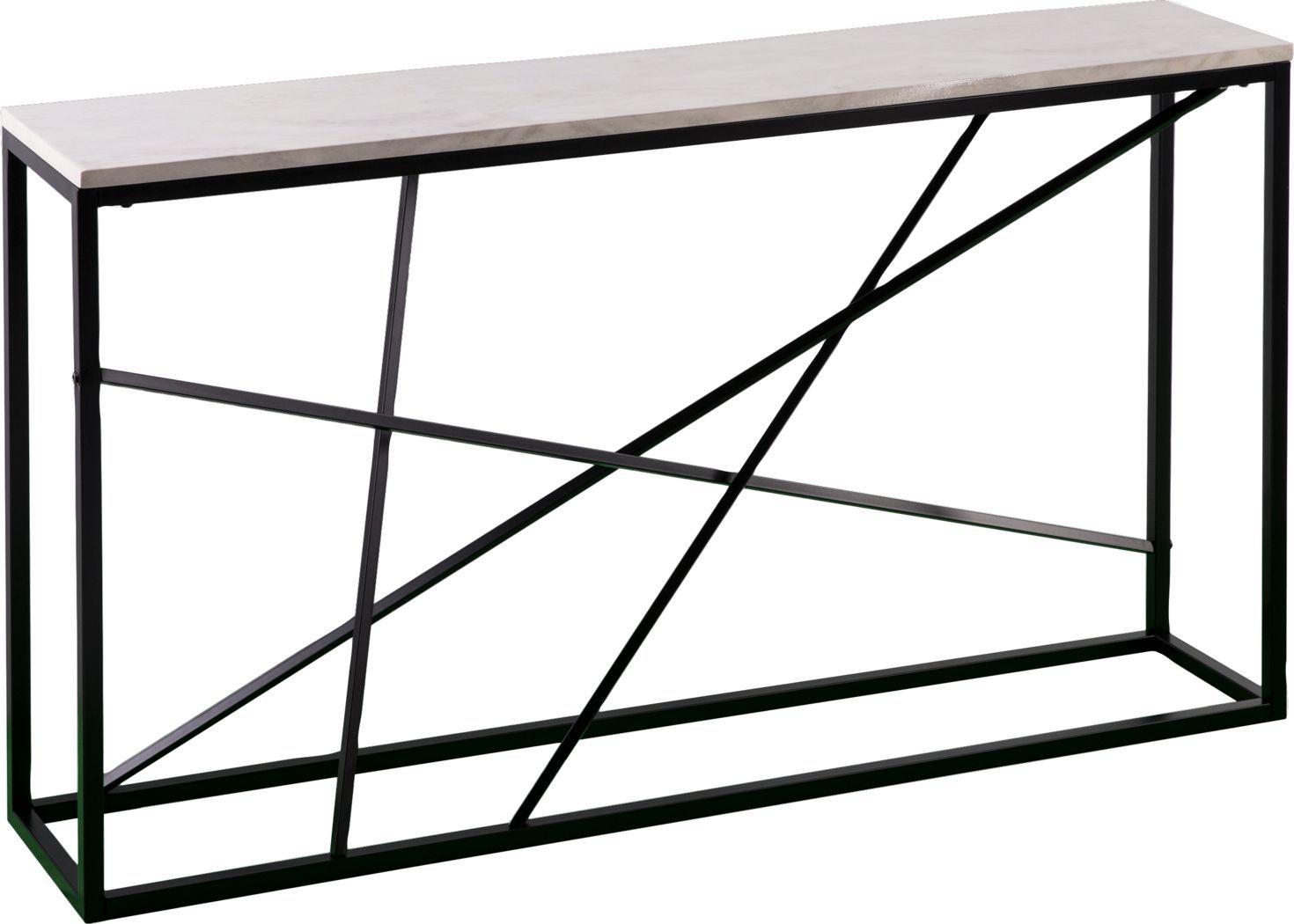 Alderton White Console Table Skinny