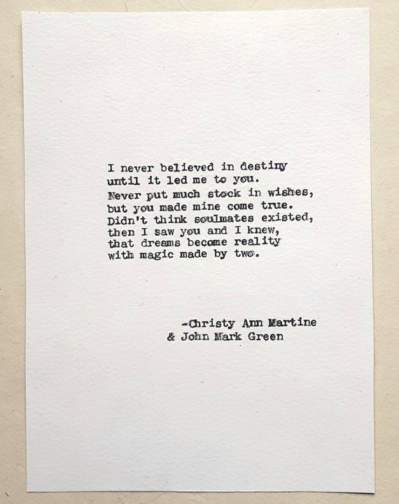 Cotton Anniversary Gift for Wife or Husband - Boyfriend Anniversary Gifts - Romantic Love Poem - Hand Typed by Poet
